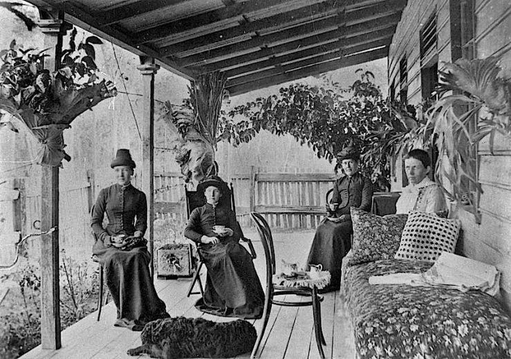 Tea on porch, 1887, State Library of Queensland, Australia
