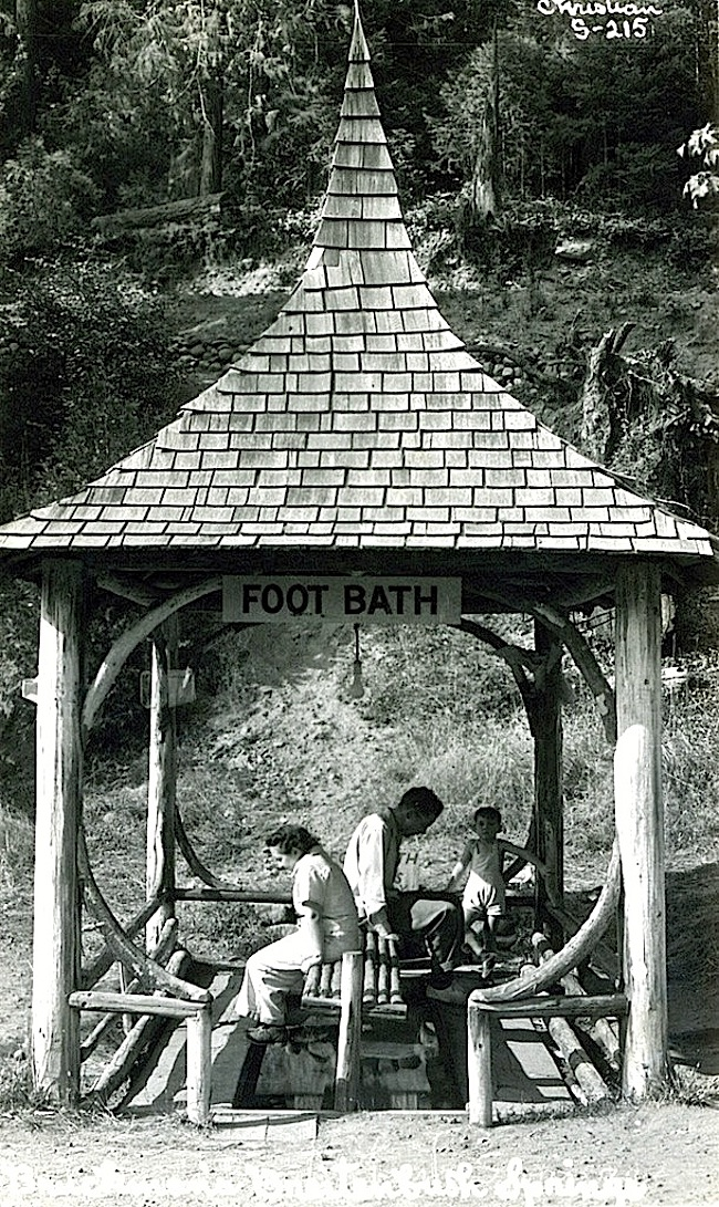 Foot bath, Oregon, OSU Archives