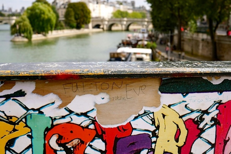 Pont des Arts 6, Paris, Sept 2015, enclos*ure