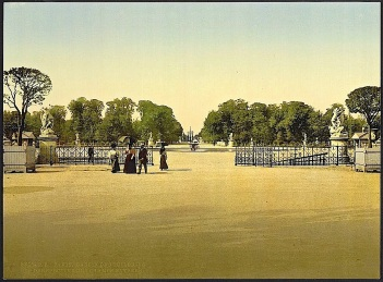 Tuileries Garden, Paris, ca. 1900, photochrom, via Library of Congress