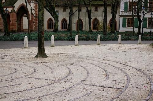 The labyrinth at Leonardskirchplatz, Basel, enclos*ure