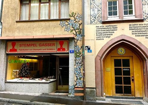 Basel doorway, Nov2015, enclos*ure