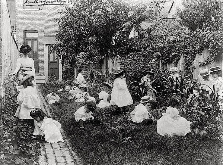 Kindergarten in a vegetable garden, FB Johnston, Library of Congress