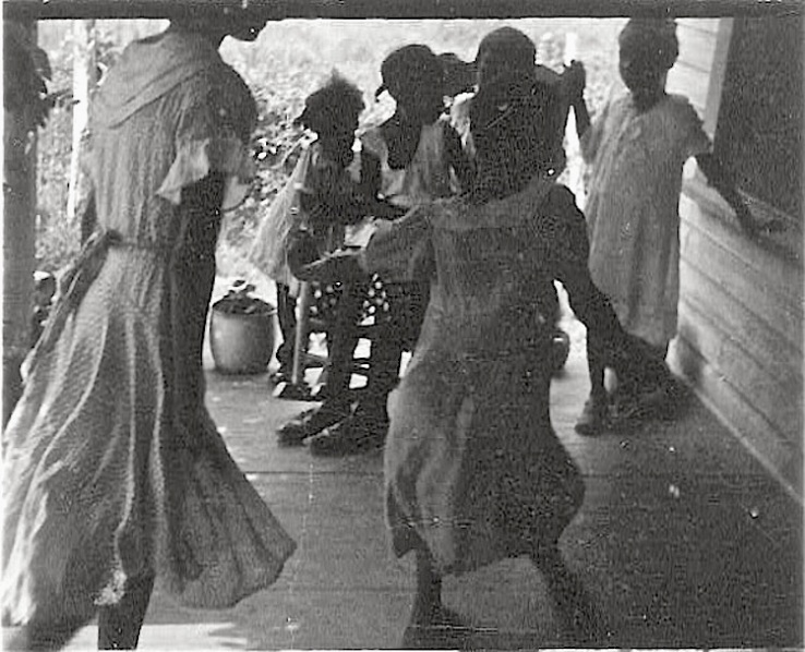 Woman and children dancing, 1935, Lomax Collection via Library of Congress
