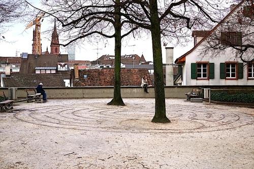 The labyrinth at Leonardskirch, Basel, enclos*ure