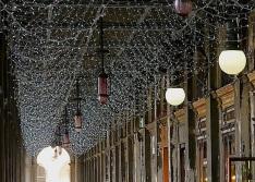 Piazza San Marco arcade, Venice, Christmas 2015, enclos*ure
