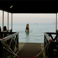 The hotel's dock.