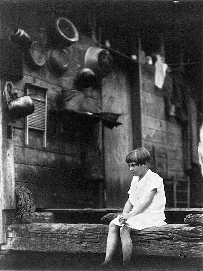 Girl on Porch, D. Ullman, Library of Congress