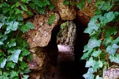A tunnel through a berm.