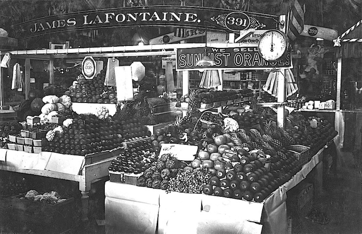 Center Market, Washington, D.C., February 18, 1915, via National Archives