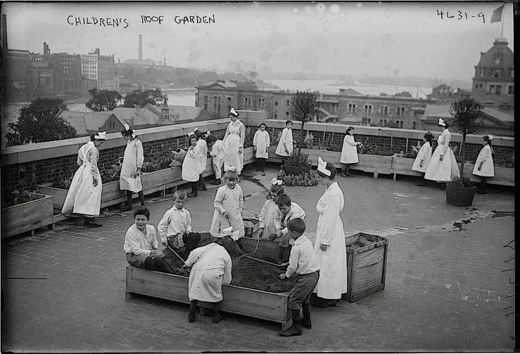 Children's roof garden, Bain News Service, Library of Congress