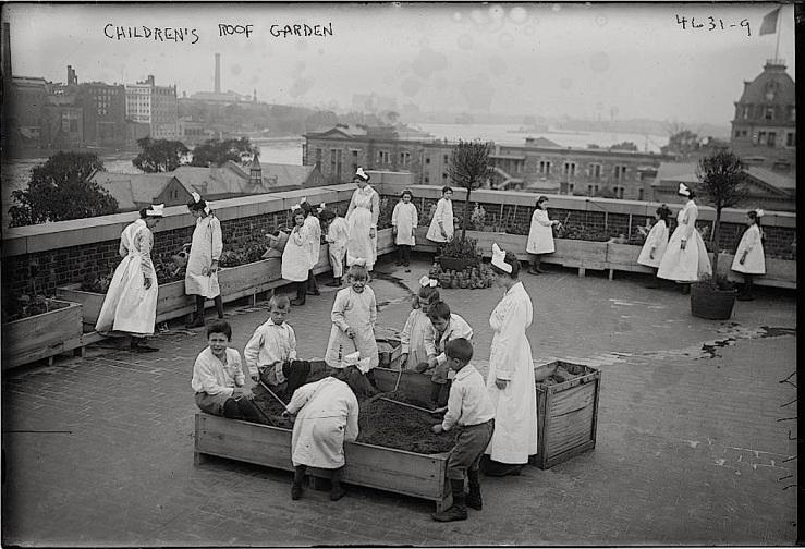 Children's roof garden, Bain News Service, Library of Congress