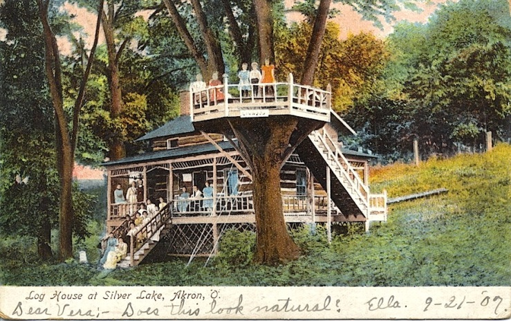 Log House, Akron, Ohio, via Miami University, flickr