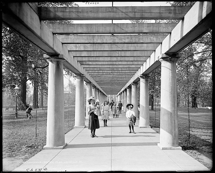 Colonade, Louisville, Ky, park, Library of Congress