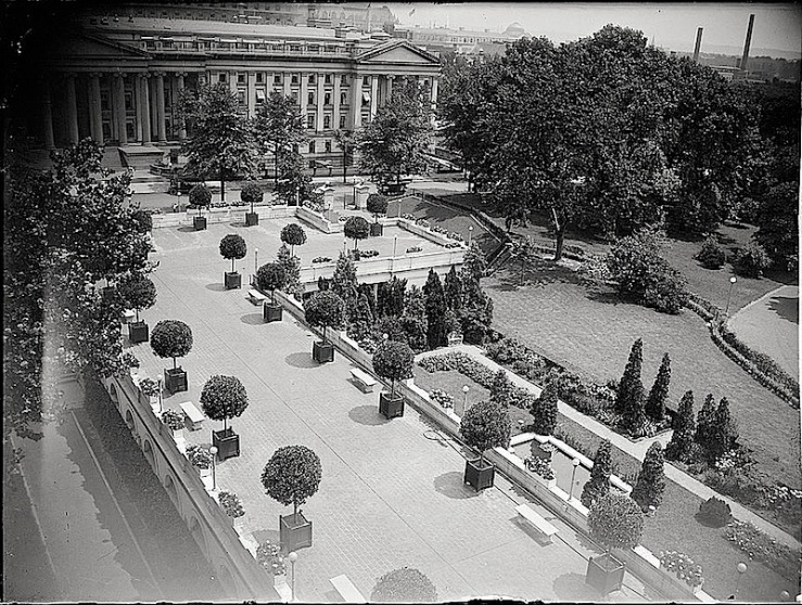East Terrace, White House, c. 1923, Library of Congress