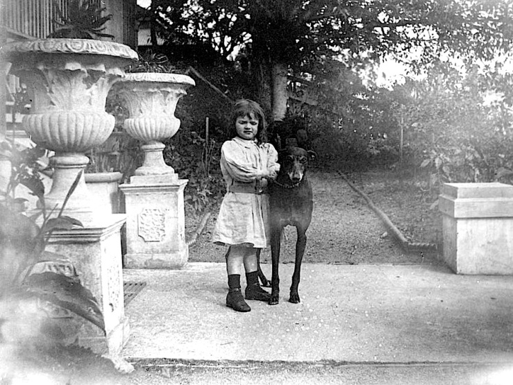 Girl and dog, 1899, State Library of Queensland