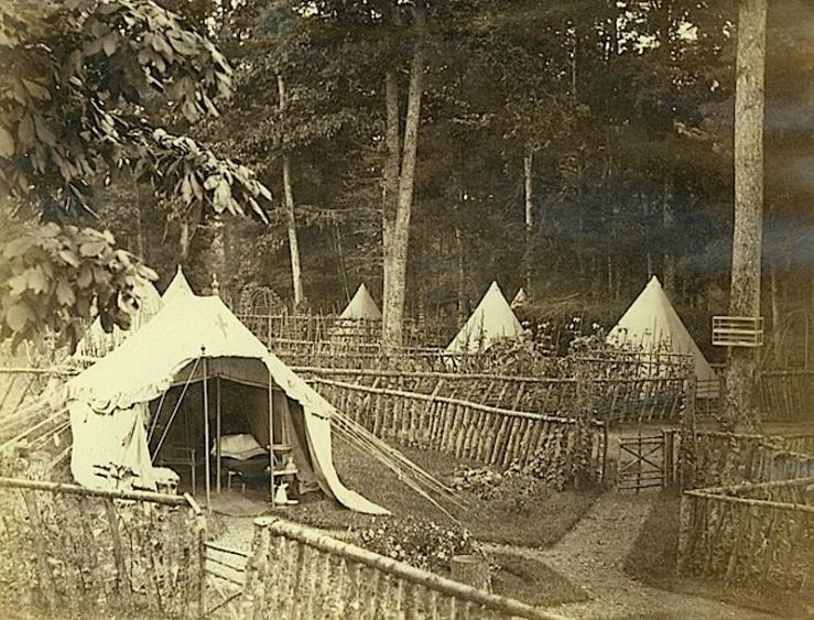 Maj. Buller's tent, Grimsby camp, Hamilton Public Library