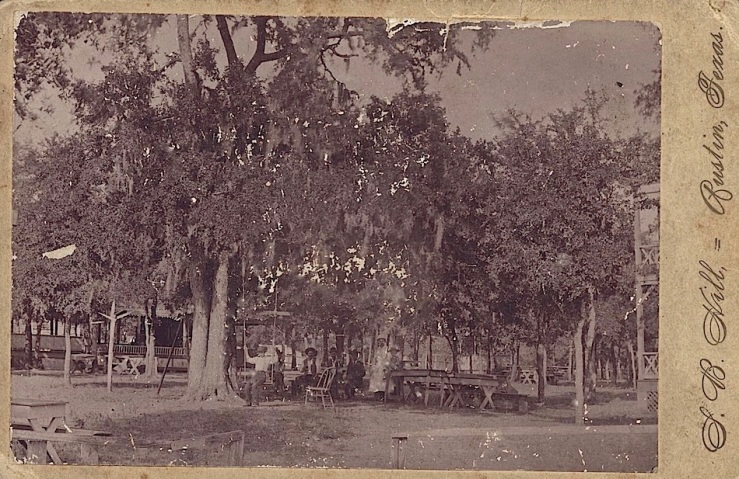 Pressler's Beer Garden, Austin, TX, ca. 1890s, via The Portal to Texas History