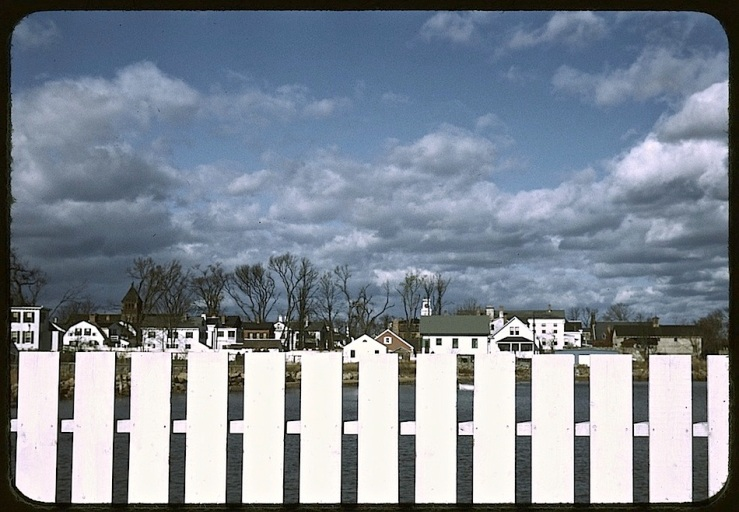 white fence, white town, Library of Congress