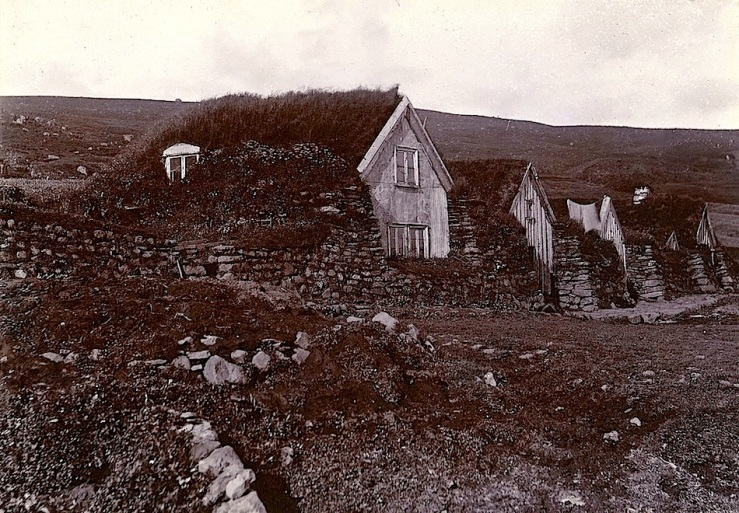 Iceland houses, ca. 1900, Cornell University Library