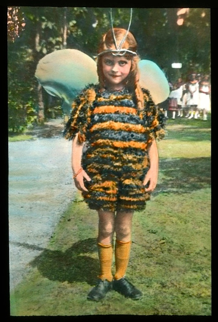10 Child:ren in wildflower costumes, Chicago, ca. 1920, The Field Museum Library
