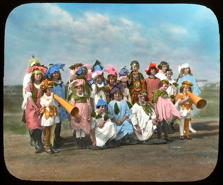 13 Child:ren in wildflower costumes, Chicago, ca. 1920, The Field Museum Library