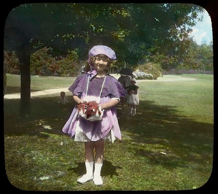 3 Child:ren in wildflower costumes, Chicago, ca. 1920, The Field Museum Library
