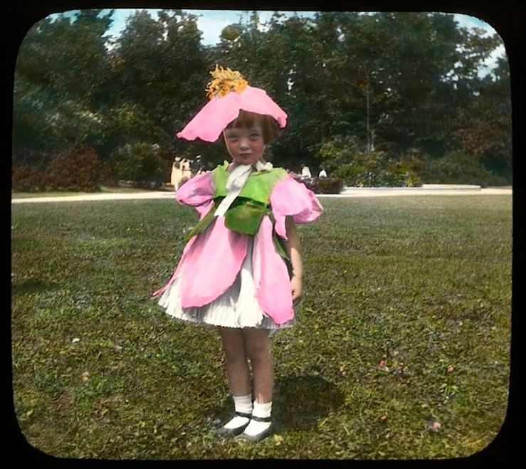 7 Child:ren in wildflower costumes, Chicago, ca. 1920, The Field Museum Library