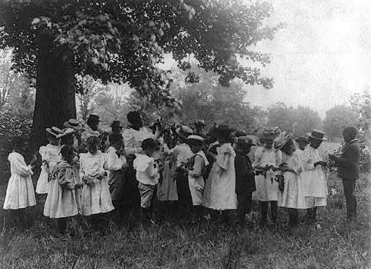 Schoolchildren in nature class, FB Johnston, Library of Congress