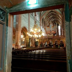 Looking out to the nave.