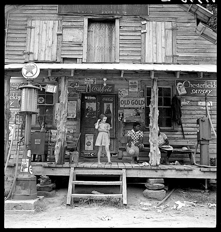 Store porch, D. Lange, Library of Congress