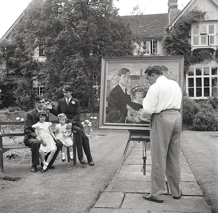 painter-in-english-garden-nationaal-archiefs-netherlands